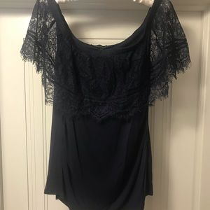 Navy Lace dress top NWT Black House White Market